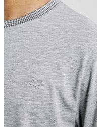 TOPMAN | Gray Ltd Montauk Surf Grey Ribbed T-shirt for Men | Lyst
