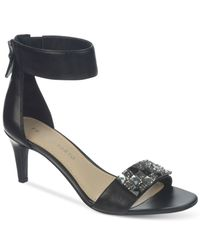 Franco Sarto - Black Evelina Evening Sandals - Lyst