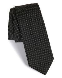 HUGO Black Pin Dot Silk Tie for men