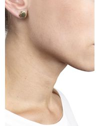 Marc By Marc Jacobs - Metallic Gold Tone Bolt Stud Earrings - Lyst