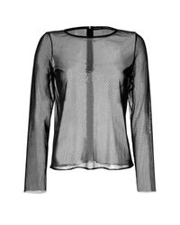 Anthony Vaccarello - Mesh Top - Black - Lyst