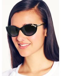 Kate Spade | Black Livia 2 Sunglasses | Lyst