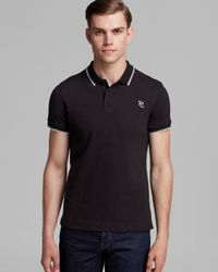 McQ - Black Tipped Slim Fit Polo for Men - Lyst