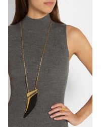 Maiyet | Black Goldplated Horn Necklace | Lyst