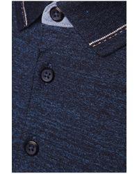 BOSS Orange | Blue 'patcherman' | Slim Fit, Mixed Melange Polo Shirt for Men | Lyst