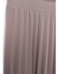 Mango - Natural Pleated Capri Trousers - Lyst