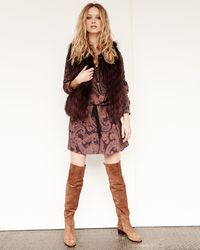 Haute Hippie - Brown Sleeveless Two-tone Fur Vest - Lyst