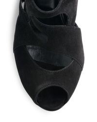 Pierre Hardy - Black Suede Cutout Kneehigh Sandal Boots - Lyst