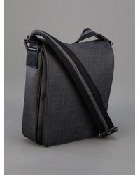Fendi Black Zucca Forever Shoulder Bag for men