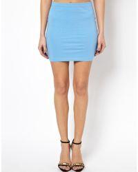 ASOS - Blue Mini Skirt in Jersey - Lyst