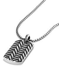 David Yurman | Metallic Modern Chevron Tag Necklace for Men | Lyst