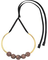 Marni | Pink Leather Choker Necklace | Lyst