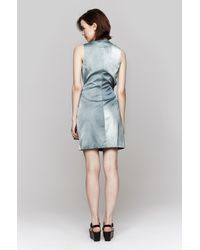 Opening Ceremony | Blue Echo Draped Watercolor Dress | Lyst