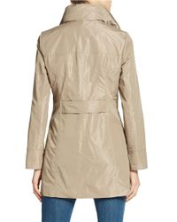 Ellen Tracy | Natural Packable Rain Jacket | Lyst