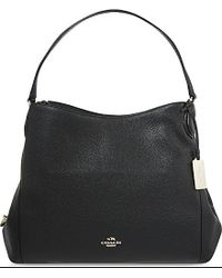 COACH | Black Edie Grained Leather Shopper | Lyst