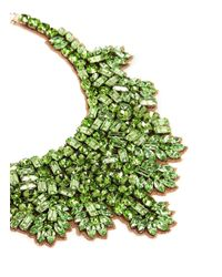 Valentino | Green Crystal And Silver-tone Necklace | Lyst