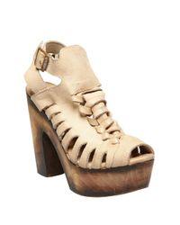 Freebird by Steven - Brown Congo Leather Platform Sandals - Lyst