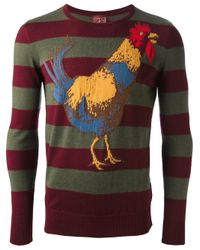 Stella Jean - Green Rooster Print Sweater for Men - Lyst
