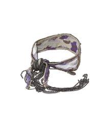 Chan Luu - Purple Silk Chiffon Bracelet with Embroidery - Lyst