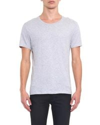 American Vintage - Gray Denver Crew-Neck T-Shirt for Men - Lyst