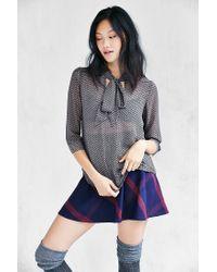 Kimchi Blue | Black Olivia Tie-neck Blouse | Lyst