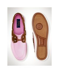 Polo Ralph Lauren - Pink Chino Rylander Boat Shoe for Men - Lyst