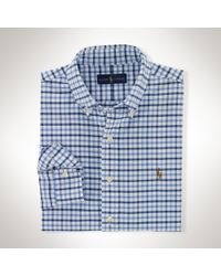 Polo Ralph Lauren - Blue Tattersall Cotton Oxford Shirt for Men - Lyst