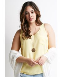 Forever 21 | Yellow Pocket Sleeveless Top | Lyst