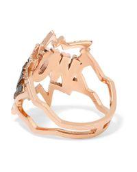 Diane Kordas - Pink Wow! 18-karat Rose Gold Diamond Ring - Lyst