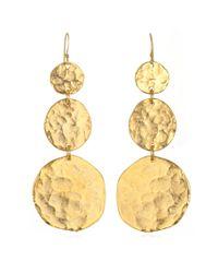 Kenneth Jay Lane | Metallic Triple Coin Earrings | Lyst