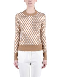 Jonathan Saunders - Brown Long Sleeve Jumper - Lyst