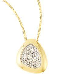 Roberto Coin | Metallic Capri Plus Diamond Pave Pendant Necklace | Lyst