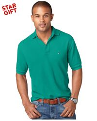 Tommy Hilfiger - Green Classic-fit Ivy Polo for Men - Lyst