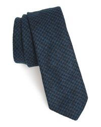 W.r.k. | Blue Houndstooth Tie for Men | Lyst
