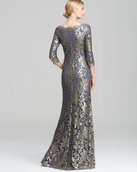 Tadashi Shoji - Off-Shoulder Metallic Lace Gown - Lyst