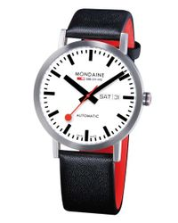 Mondaine - Black 'classic' Automatic Leather Strap Watch - Lyst