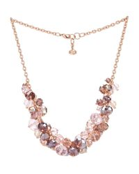 Ted Baker | Pink Crisbel Bead Cluster Necklace 16 | Lyst