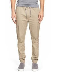 Volcom | Natural 'scouter' Jogger Pants for Men | Lyst