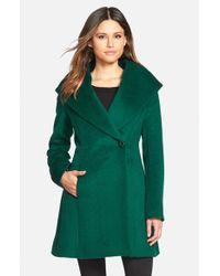 Trina Turk - Green 'bonnie' Shawl Collar Skirted Coat - Lyst