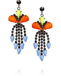 Tom Binns - Multicolor Electro Clash Nova Painted Swarovski Crystal Earrings - Lyst