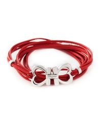 Ferragamo | Metallic Multi Strand Bracelet | Lyst