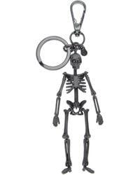Alexander McQueen - Metallic Skeleton Keyring for Men - Lyst