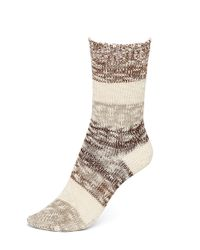 Hue | Multicolor Marled Striped Boot Socks | Lyst