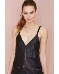 Nasty Gal | Metallic Glimmer Body Chain | Lyst