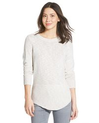 NIC+ZOE | Gray 'heathered Sky' Sweater | Lyst