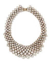 Banana Republic - Metallic Crystal Collar Necklace - Lyst