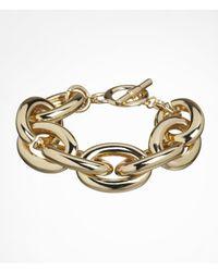 Express - Metallic Large Status Link Toggle Bracelet - Lyst