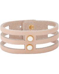 Isabel Marant - Natural Studded Leather Bracelet - Lyst