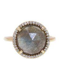 Irene Neuwirth   Gray Rose Cut Labradorite Ring   Lyst