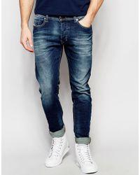 DIESEL - Jeans Tepphar 850k Skinny Fit Stretch Dirty Dark Blue Wash for Men - Lyst